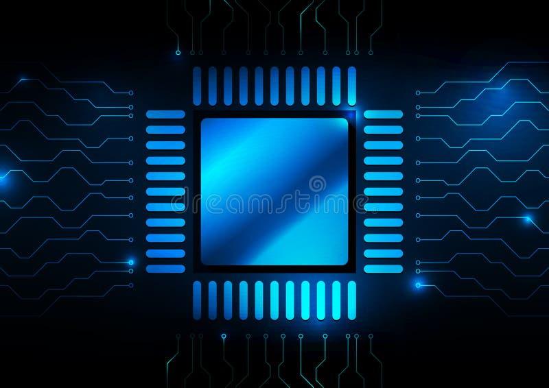 Computer-CPU-Zusammenfassungshintergrund-Vektorillustration lizenzfreie abbildung