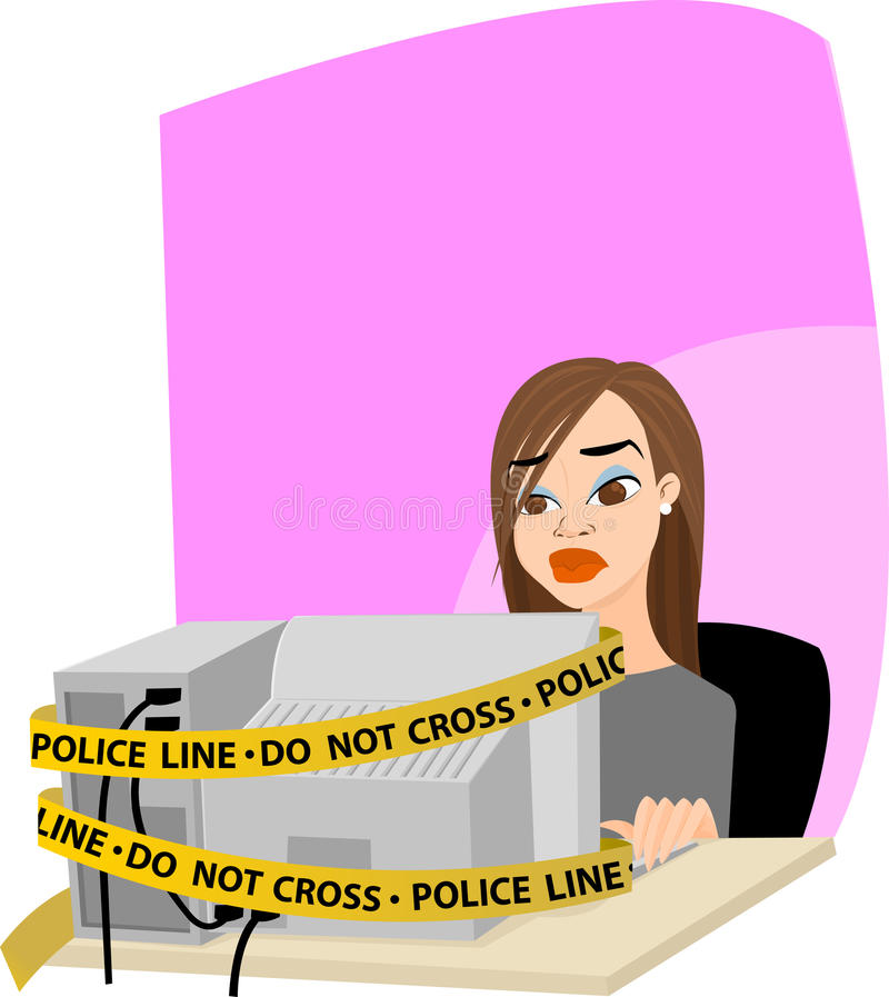 Download Computer Crime stock vector. Image of crime, security - 14350791