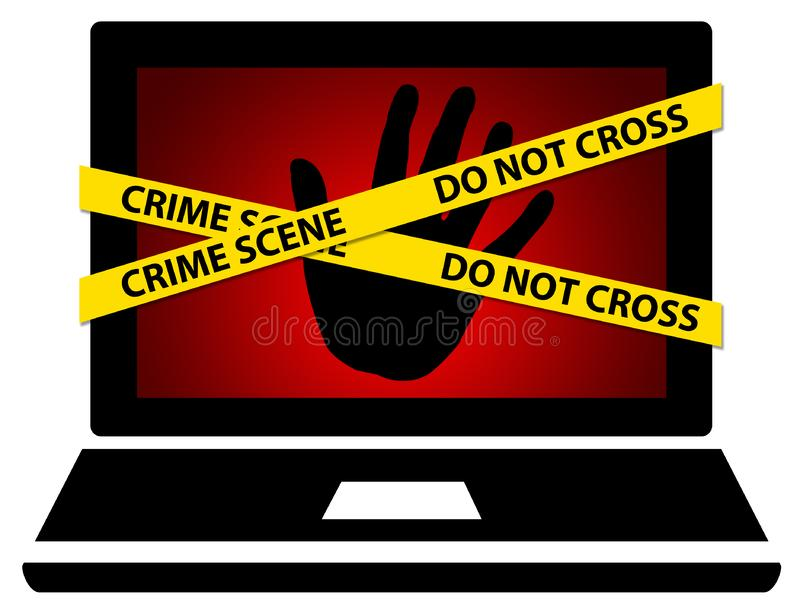 Computer crime vector illustration