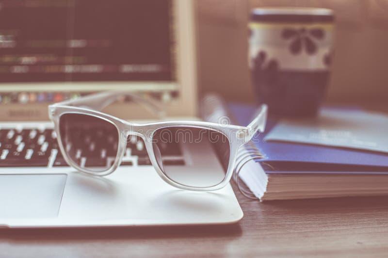 Computer, Cup, Desk, Eyewear Free Public Domain Cc0 Image