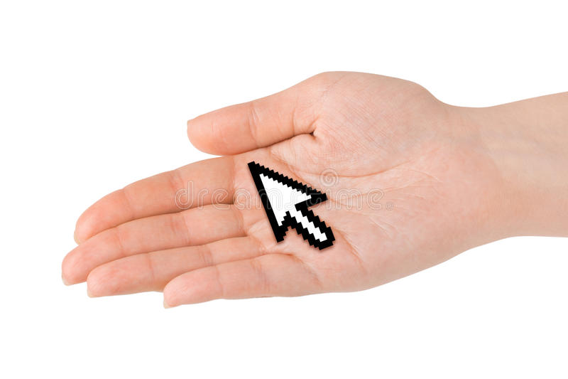 Download Computer cursor in hand stock photo. Image of creativity - 10532102