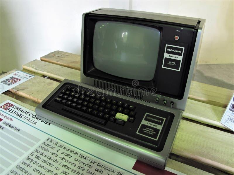 Computer d'annata di Roma immagine stock