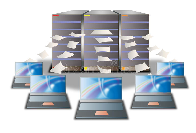 Computer data center royalty free illustration