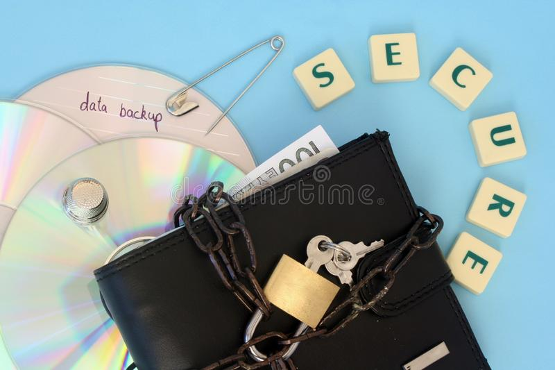 Computer data security stock image