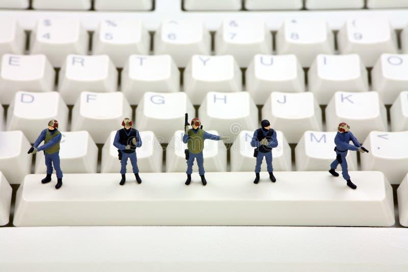 Computer data security concept royalty free stock photos