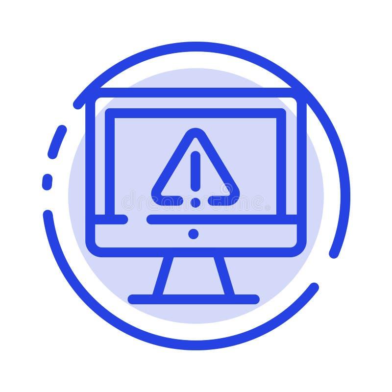 Computer, Daten, Informationen, Internet, Linie Ikone der Sicherheits-blauen punktierten Linie lizenzfreie abbildung