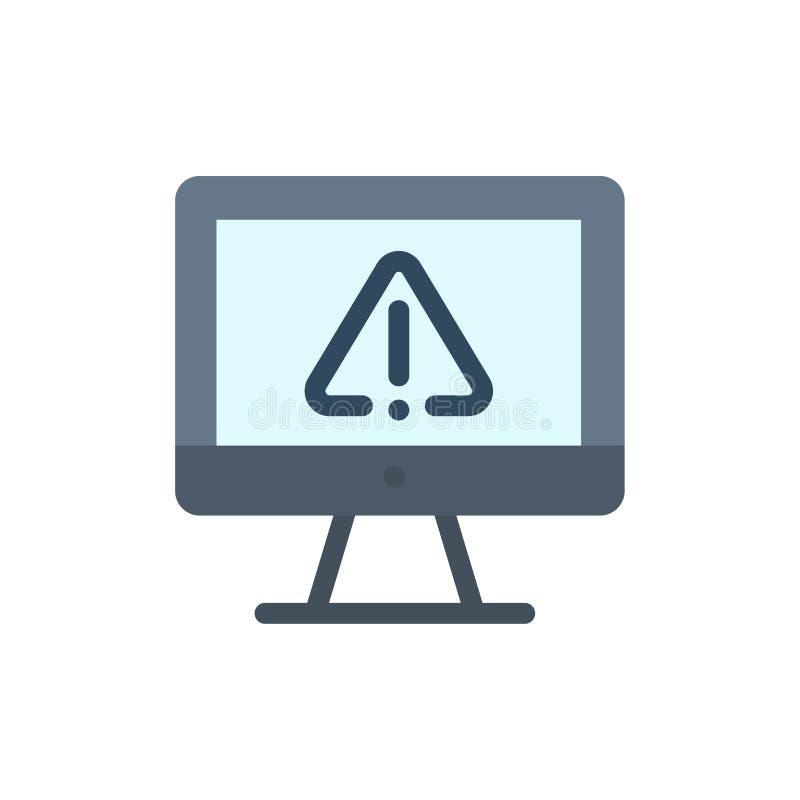 Computer, Daten, Informationen, Internet, Sicherheits-flache Farbikone Vektorikonen-Fahne Schablone vektor abbildung