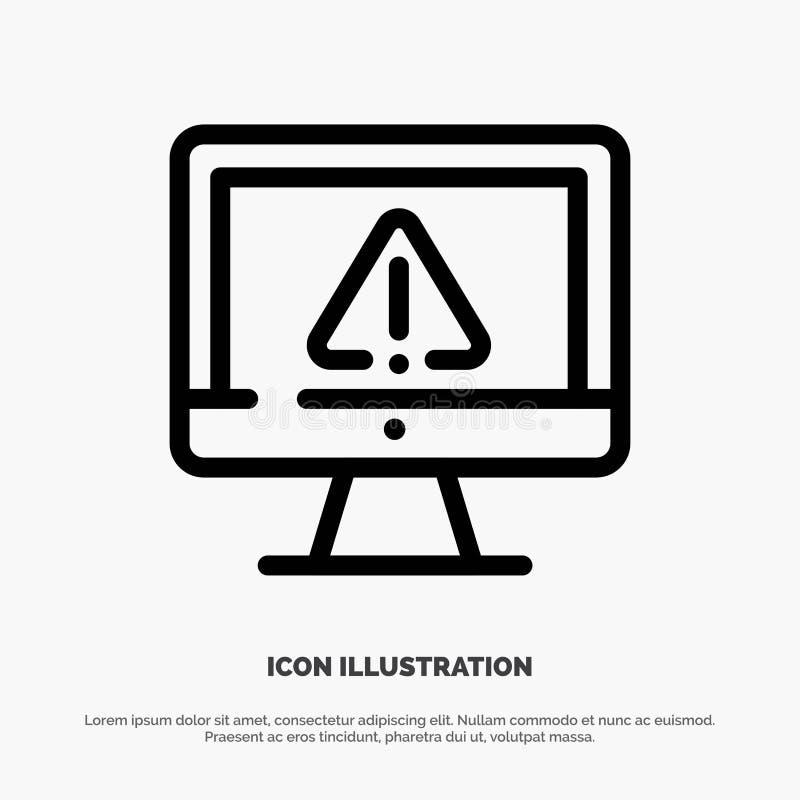 Computer, Daten, Informationen, Internet, Sicherheits-Linie Ikonen-Vektor vektor abbildung