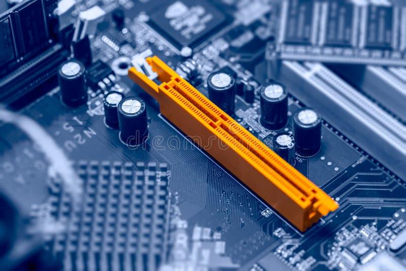 Computer della scanalatura di AGP immagini stock libere da diritti