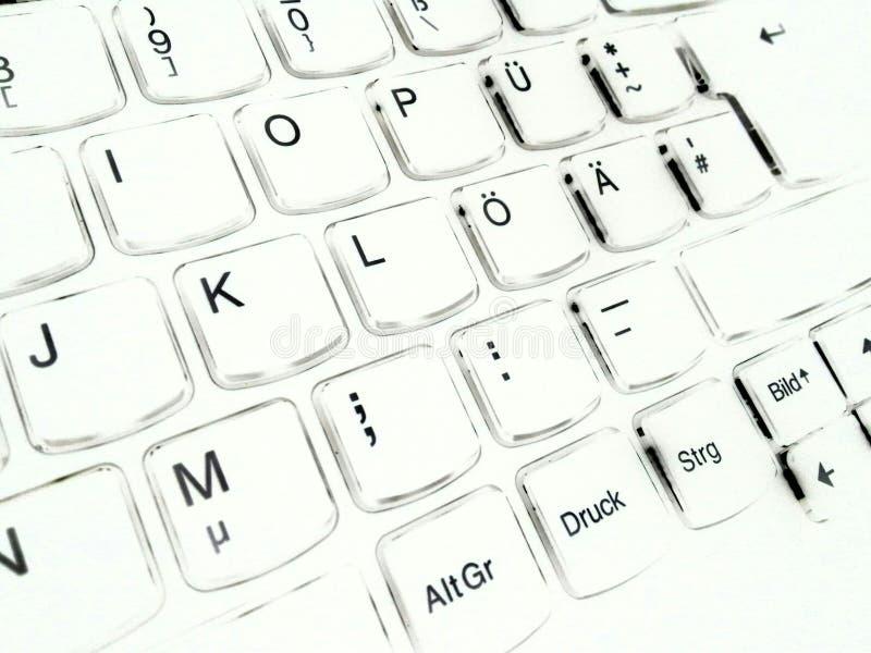 Computer della tastiera immagine stock