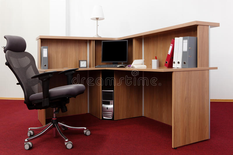 Download Computer on a desk stock image. Image of horizontal, furniture - 18003083