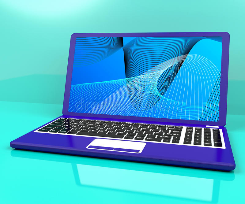 Download Computer On Desk With Spiral Pattern Stock Illustration - Image: 26475756