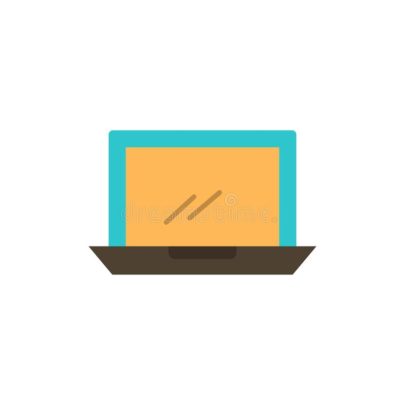Computer, Desktop, Device, Hardware, Pc  Flat Color Icon. Vector icon banner Template royalty free illustration