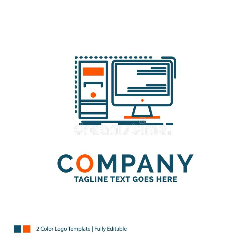 Free Computer, Desktop, Hardware, Workstation, System Logo Design. Bl Stock Image - 132251861