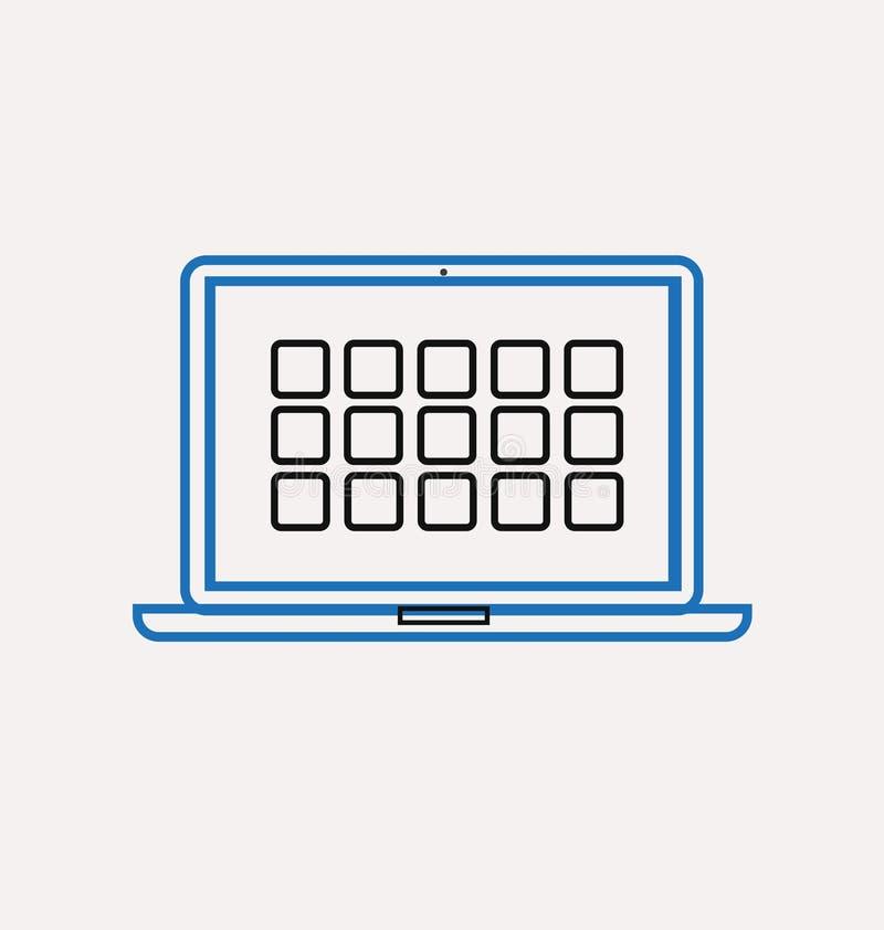 Computer desktop icons. Illustration of vector computer desktop icons stock illustration