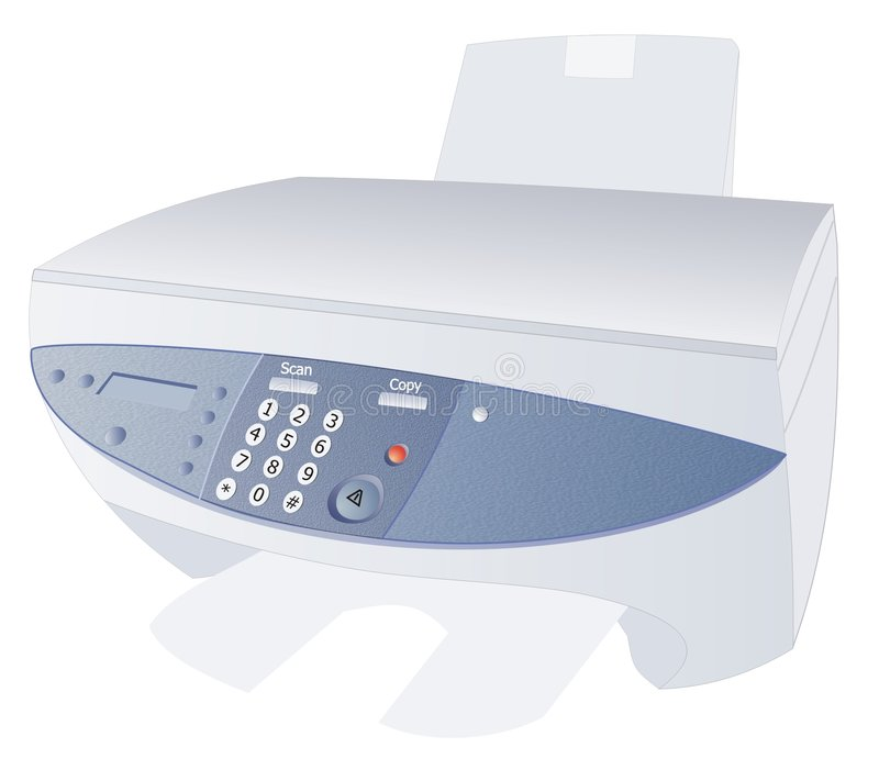 Download Computer device stock illustration. Image of device, printer - 504866