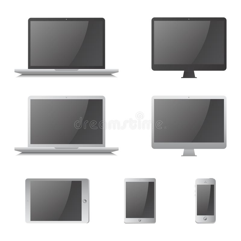 Computer device royalty free illustration