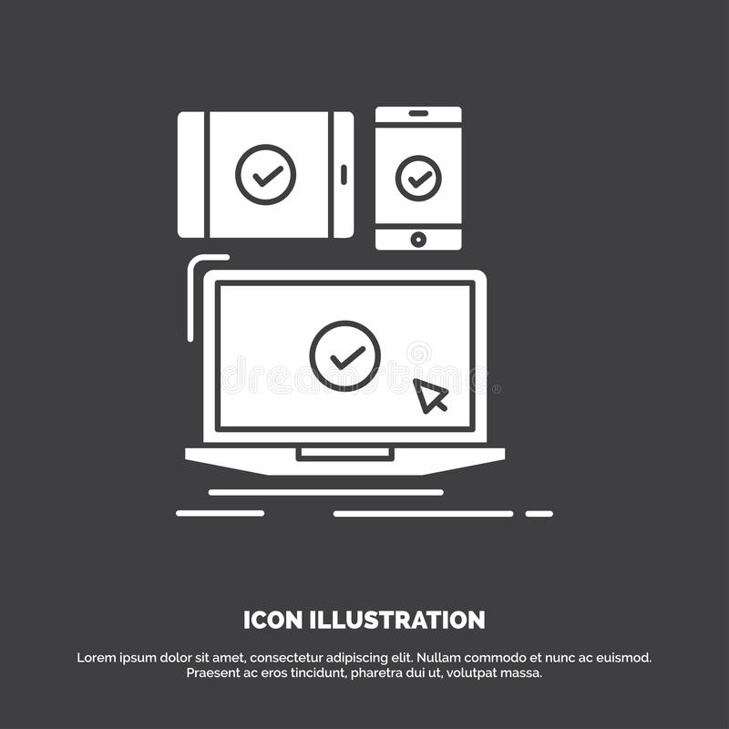 computer, devices, mobile, responsive, technology Icon. glyph vector symbol for UI and UX, website or mobile application royalty free illustration