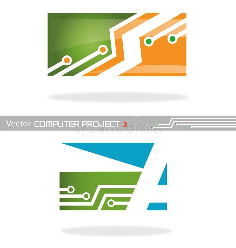 Computer 3 di progetto di vettore illustrazione vettoriale