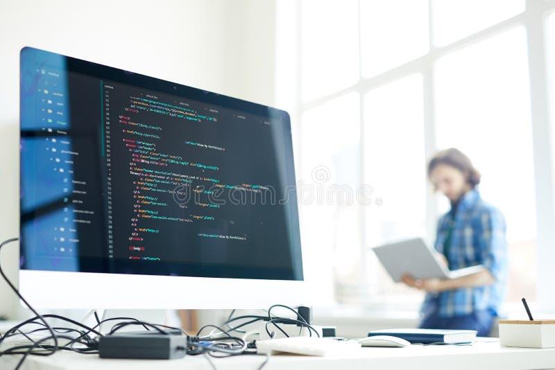 Computer di programmatore immagini stock
