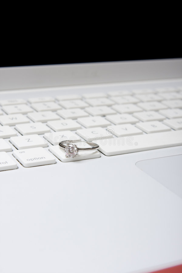 Download Computer with diamond ring stock photo. Image of social - 7797640