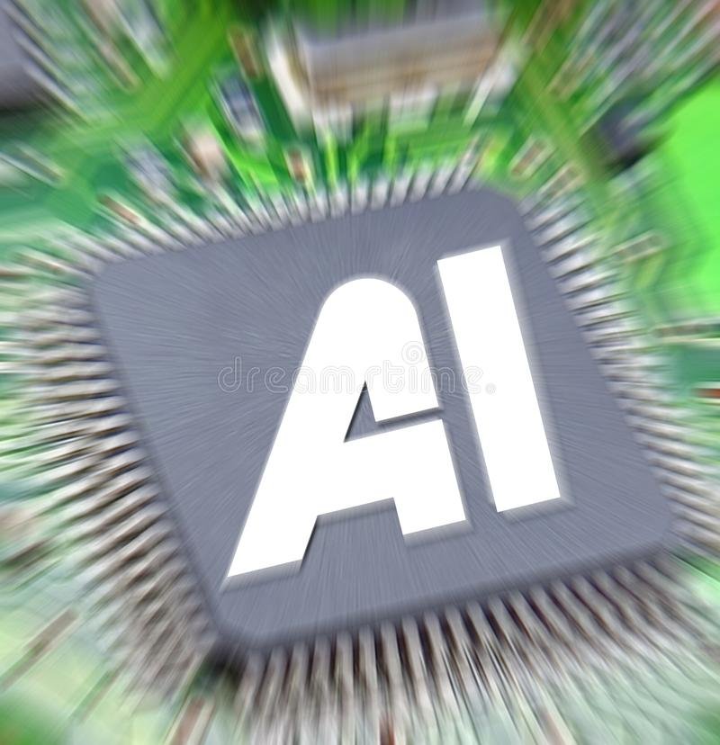 Computer digital ai artificial intelligence printed circuit board pcb information data electronics electrical system stock photography