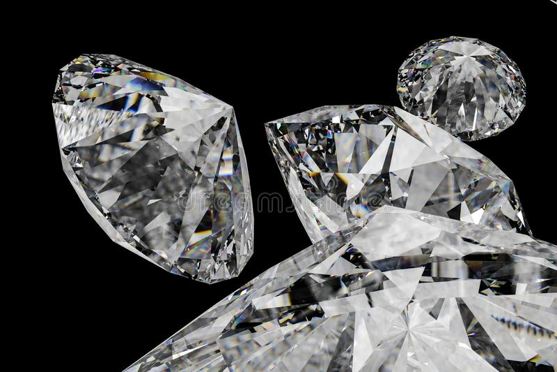 Luxury diamond gem, 3d rendering. Computer digital drawing, diamond background, 3d rendering reflection crystal diamonds gem luxury stone sparkle jewelry stock photo