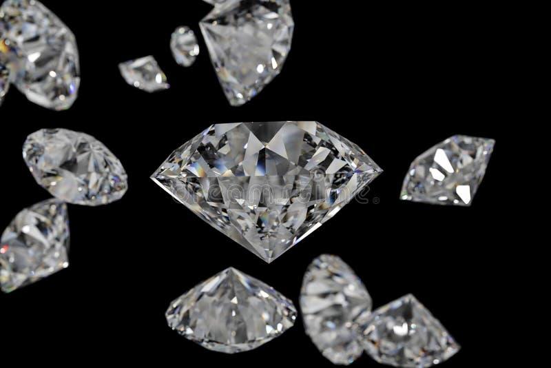 luxury diamond gem, 3d rendering vector illustration