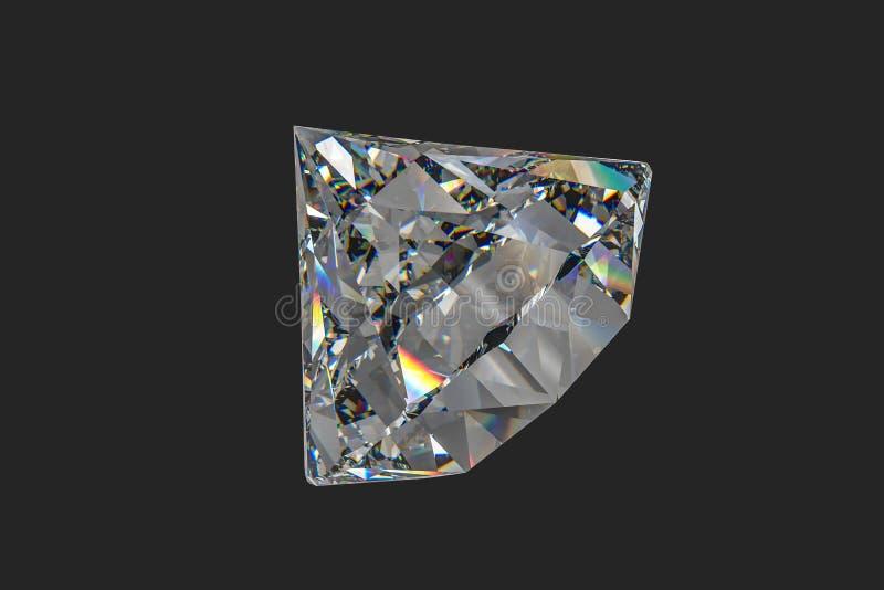 Luxury diamond gem, 3d rendering. Computer digital drawing, diamond background, 3d rendering reflection crystal diamonds gem luxury stone sparkle jewelry royalty free stock photo