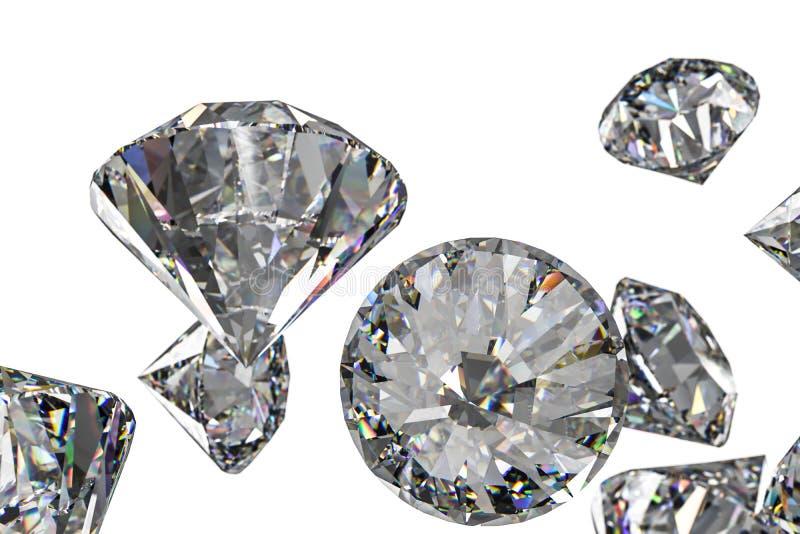 Luxury diamond gem, 3d rendering. Computer digital drawing, diamond background, 3d rendering white reflection crystal diamonds gem luxury stone sparkle jewelry stock photos