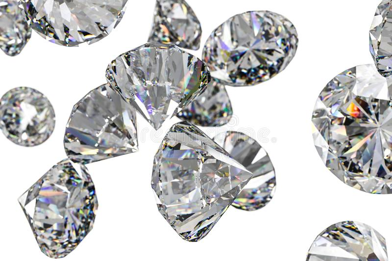 Luxury diamond gem, 3d rendering. Computer digital drawing, diamond background, 3d rendering white reflection crystal diamonds gem luxury stone sparkle jewelry royalty free stock photo