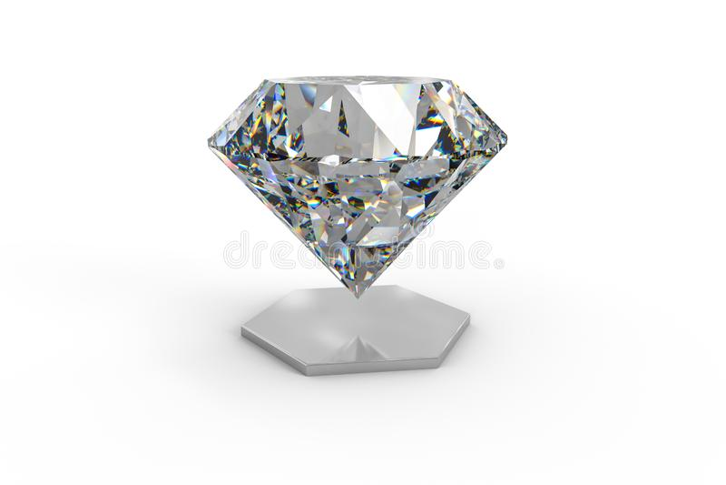 Luxury diamond gem, 3d rendering. Computer digital drawing, diamond background, 3d rendering white reflection crystal diamonds gem luxury stone sparkle jewelry royalty free stock image