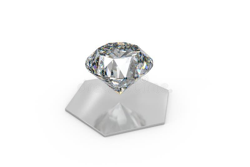 Luxury diamond gem, 3d rendering. Computer digital drawing, diamond background, 3d rendering white reflection crystal diamonds gem luxury stone sparkle jewelry stock photography