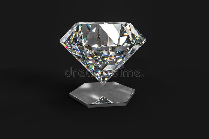 Luxury diamond gem, 3d rendering. Computer digital drawing, diamond background, 3d rendering reflection crystal diamonds gem luxury stone sparkle jewelry royalty free stock photos