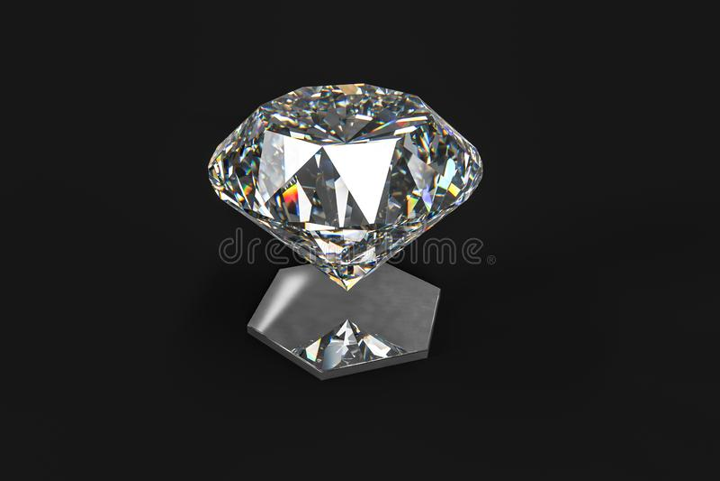 Luxury diamond gem, 3d rendering. Computer digital drawing, diamond background, 3d rendering reflection crystal diamonds gem luxury stone sparkle jewelry stock photography