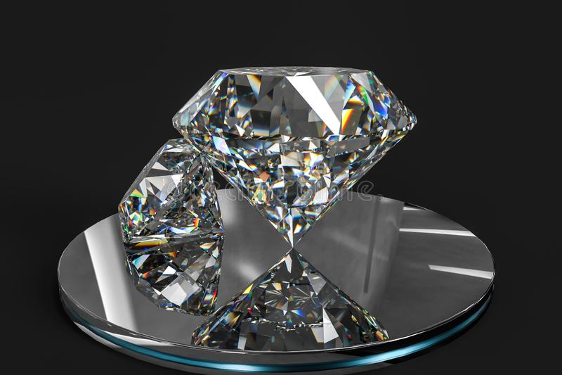Luxury diamond gem, 3d rendering. Computer digital drawing, diamond background, 3d rendering reflection crystal diamonds gem luxury stone sparkle jewelry stock photos