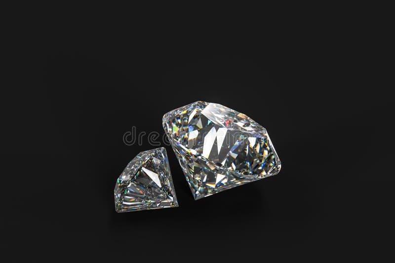 Luxury diamond gem, 3d rendering. Computer digital drawing, diamond background, 3d rendering reflection crystal diamonds gem luxury stone sparkle jewelry stock image