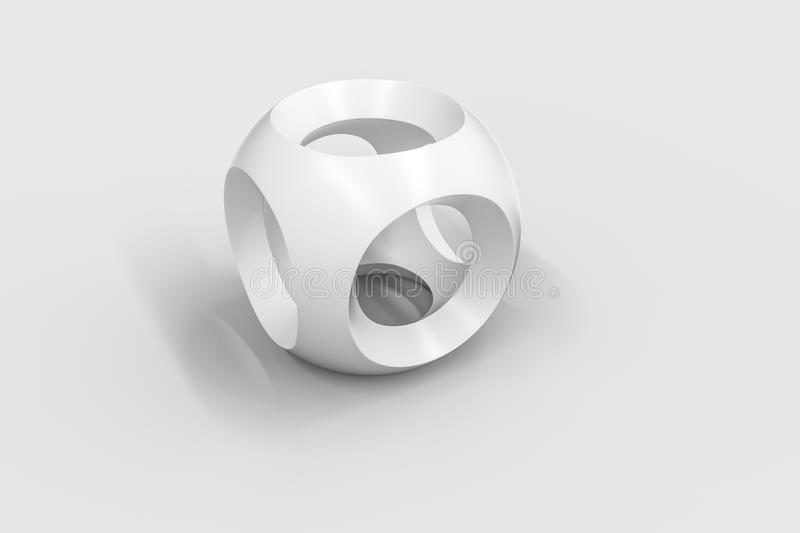 3d rendering, creative cubes in white backdrop, industrial design product. Computer digital drawing, white background technology graphic black design abstract royalty free illustration