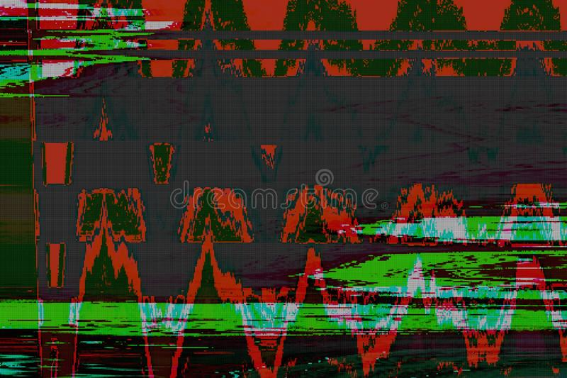 Computer digital glitch abstract background,  display. Computer digital glitch abstract background pattern technology,  display stock illustration