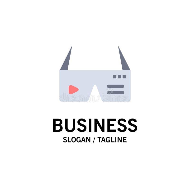 Computer, Digitale Gegevensverwerking, Glazen, Google-Zaken Logo Template vlakke kleur royalty-vrije illustratie