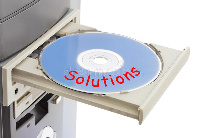 Computer and disk Solutions royalty free stock photos