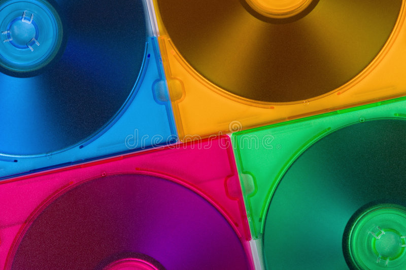 Download Computer Disks In Multiciolored Boxes Stock Image - Image: 3701463