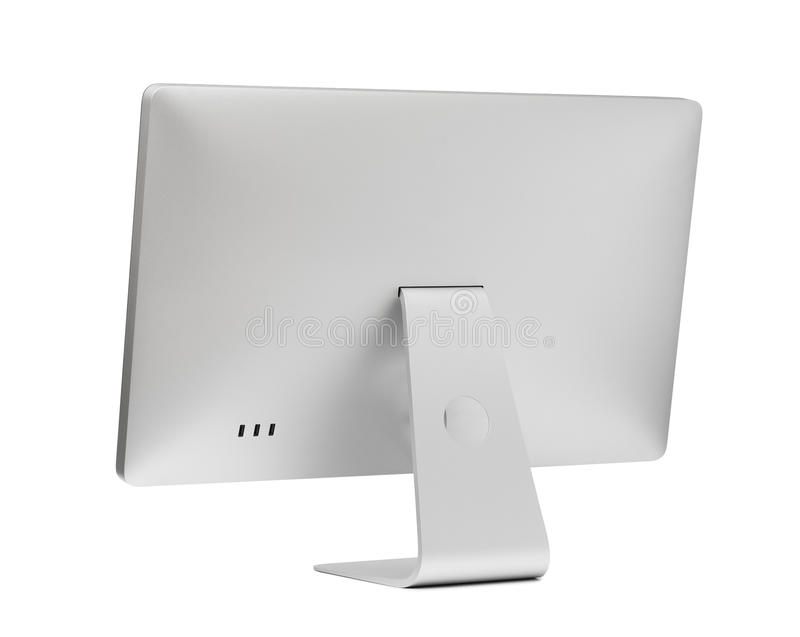 Computer display. Rear view royalty free stock image