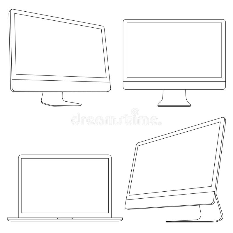 Download Computer Displays And Laptop Royalty Free Stock Photos - Image: 28174418