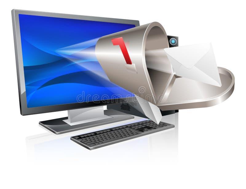 Computer-E-Mailkonzept lizenzfreie abbildung