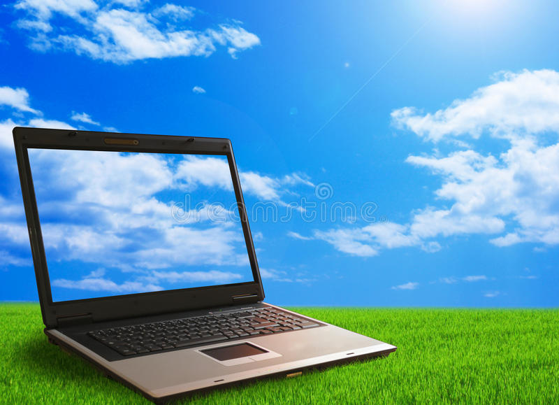 Computer ecology royalty free stock photography