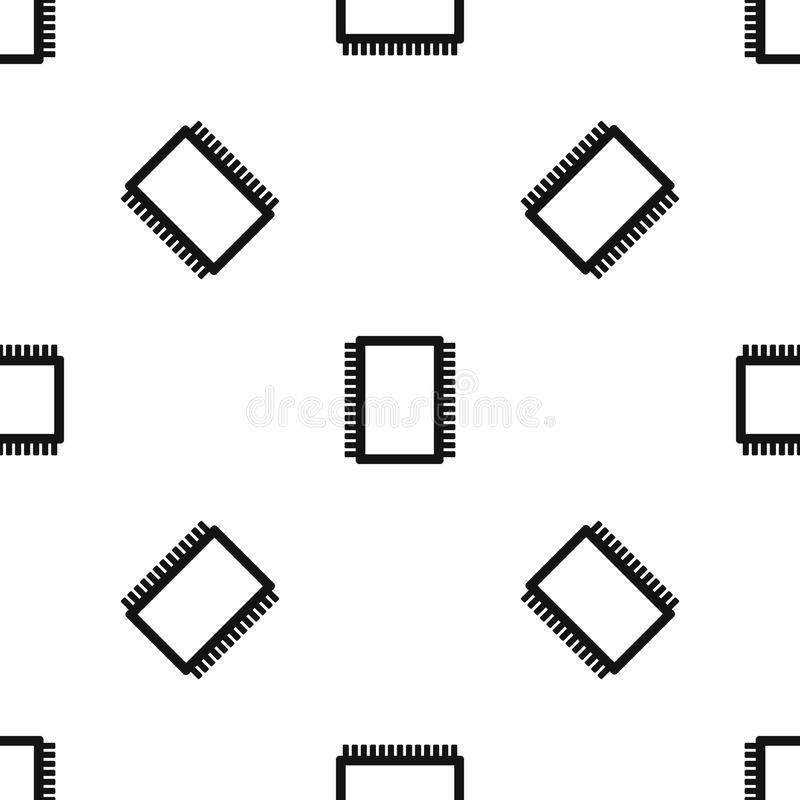 computer electronic circuit board pattern seamless black stock vector