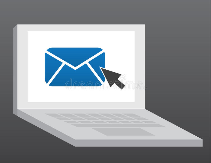 Computer-eMail lizenzfreie abbildung