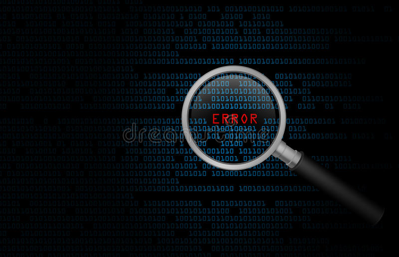 Computer Error stock illustration