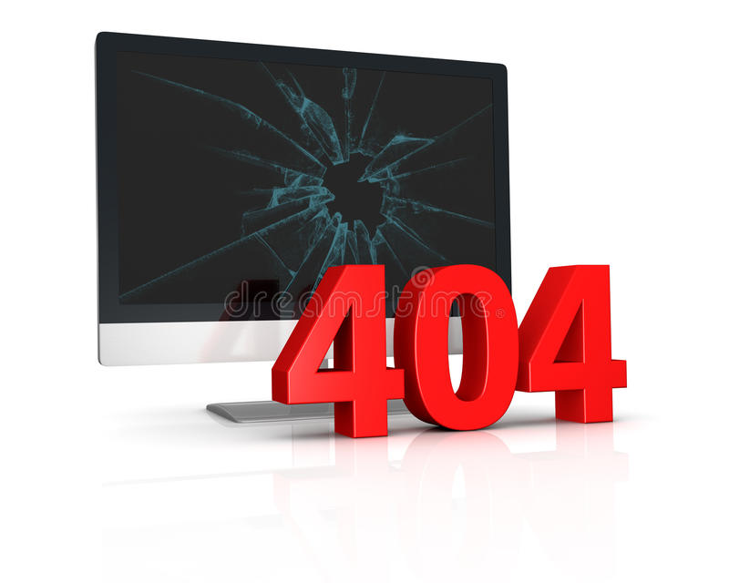 Download Computer error concept stock illustration. Image of stop - 21649191